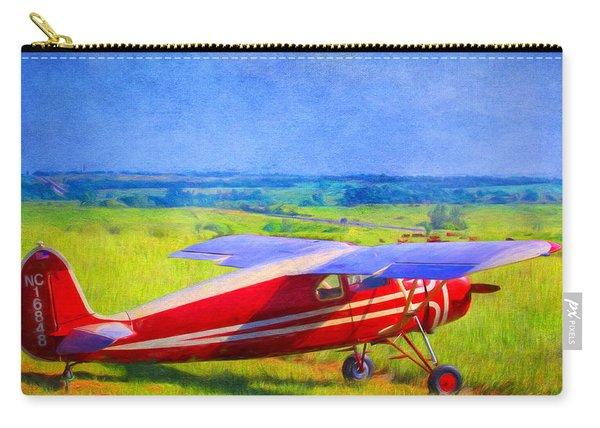 Piper Cub Airplane In Kansas Prairie Carry-all Pouch