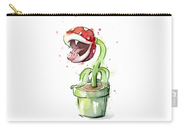 Piranha Plant Watercolor Carry-all Pouch