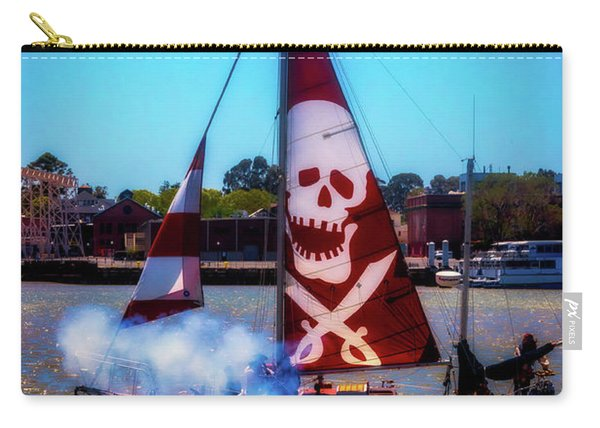 Pirate Ship With Red Skull Sail Carry-all Pouch