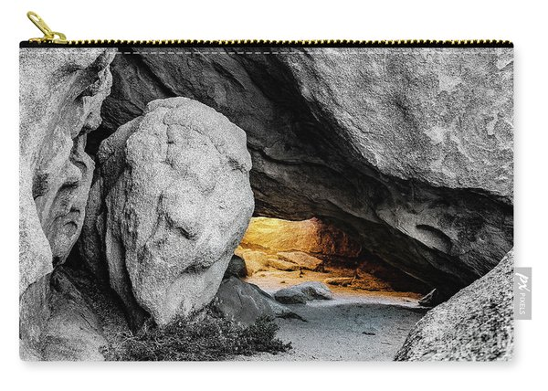 Pirate's Cave, Black And White And Gold Carry-all Pouch