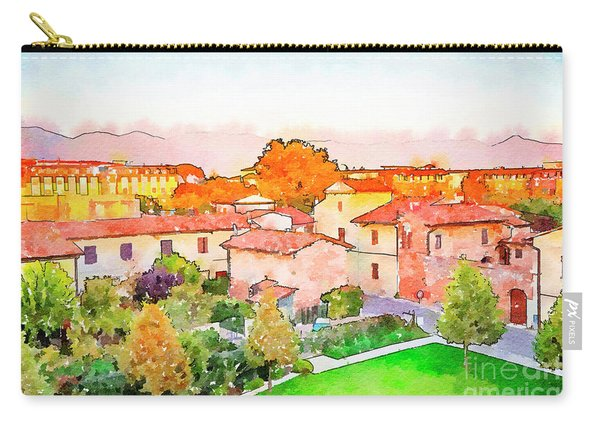 Pisa In Watercolor Style Carry-all Pouch