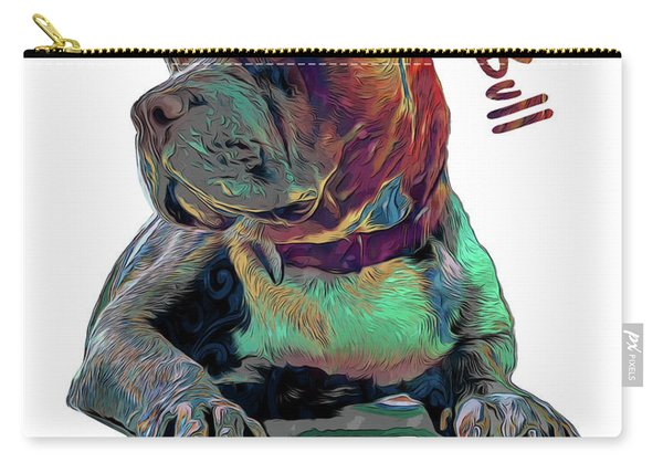 Pit Bull Pop Art Carry-all Pouch