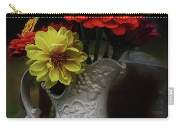 Pitcher And Zinnias Carry-all Pouch