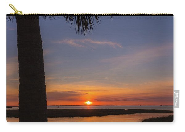 Carry-all Pouch featuring the photograph Pitt Street Bridge Palmetto Sunset by Donnie Whitaker