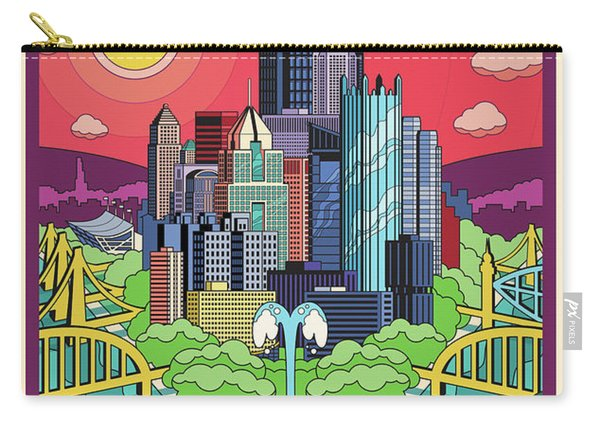 Pittsburgh Poster - Pop Art - Travel Carry-all Pouch