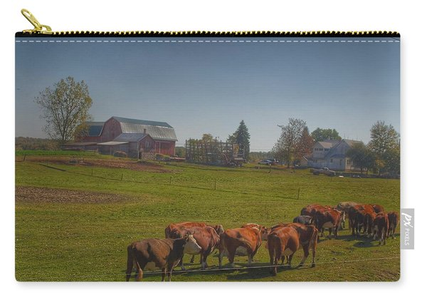 1014 - Plain Road Farm And Cows I Carry-all Pouch