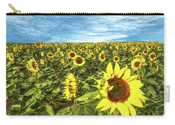 Plains Sunflowers Carry-all Pouch