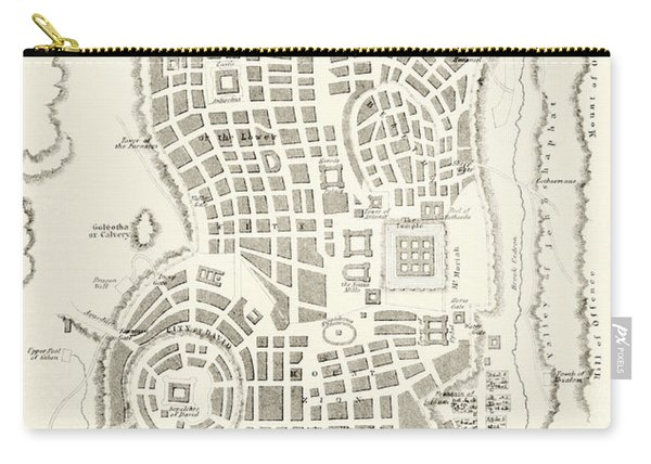 Plan Of Ancient Jerusalem As It Was Presumed To Be At The Time Of Jesus Christ Carry-all Pouch