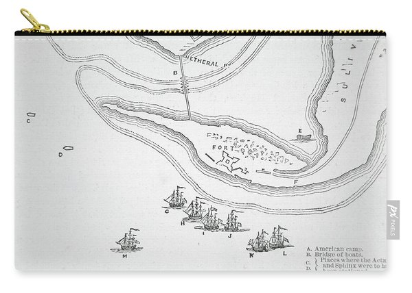 Plan Of The Attack On Sullivan's Island, 1776 Carry-all Pouch