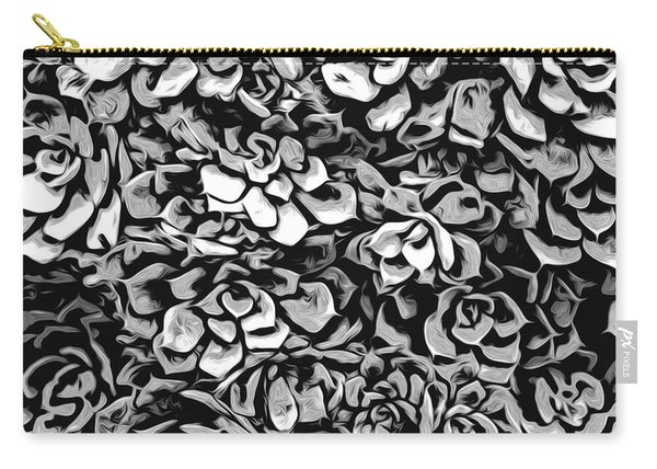 Plants Of Black And White Carry-all Pouch