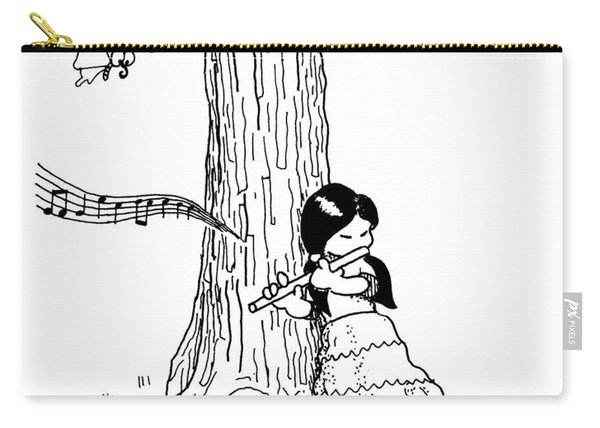 Play The Flute Under The Tree Carry-all Pouch