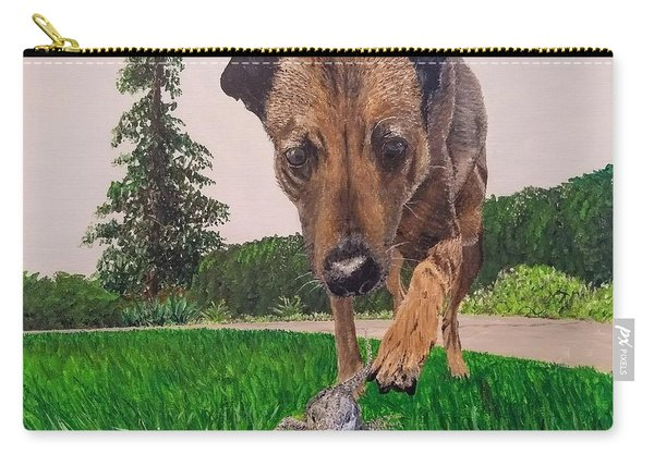 Carry-all Pouch featuring the painting Play With Me by Kevin Daly
