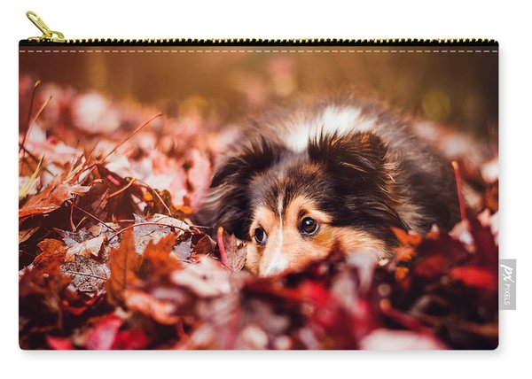 Playful Autumn Dog Carry-all Pouch