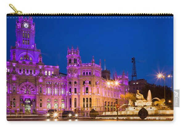 Plaza De Cibeles In Madrid Carry-all Pouch