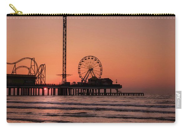 Pleasure Pier At Sunrise Carry-all Pouch