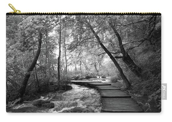 Plitvice In Black And White Carry-all Pouch