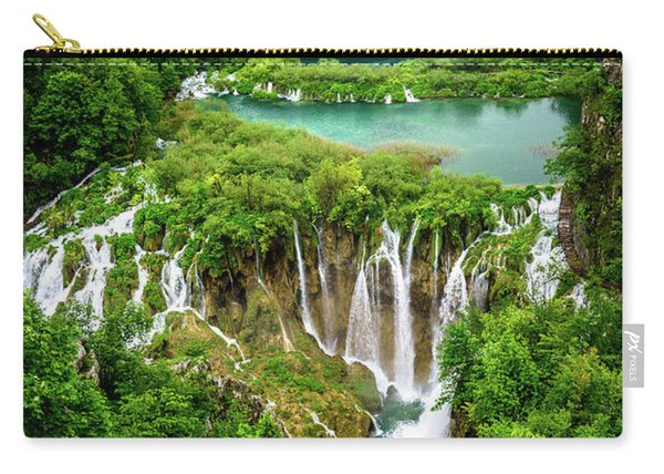 Plitvice Lakes National Park - A Heavenly Crystal Clear Waterfall Vista, Croatia Carry-all Pouch