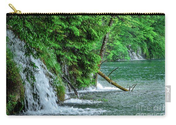 Plitvice Lakes National Park, Croatia - The Intersection Of Upper And Lower Lakes Carry-all Pouch