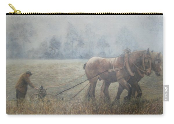 Plowing It The Old Way Carry-all Pouch