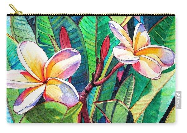 Plumeria Garden Carry-all Pouch