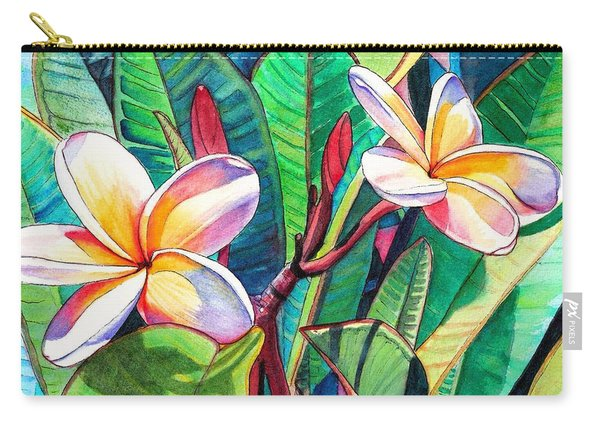 Plumeria Garden Carry-all Pouch