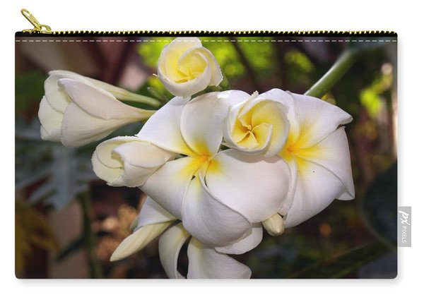 Plumeria Portrait Carry-all Pouch