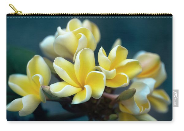 Plumerias Out Of The Blue Carry-all Pouch