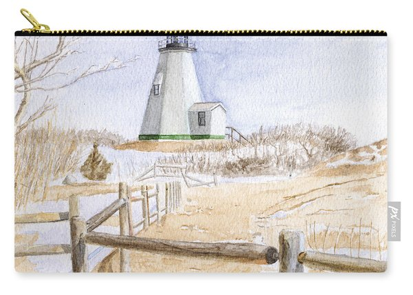 Plymouth Light In Winter Carry-all Pouch
