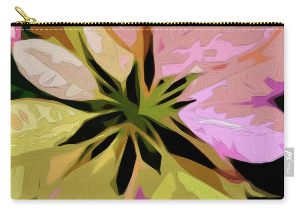 Carry-all Pouch featuring the digital art Poinsettia Tile by Gina Harrison