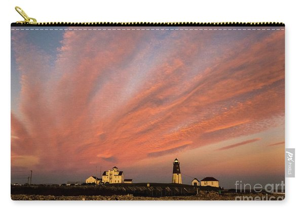 Point Judith Lighthouse Sunset Carry-all Pouch