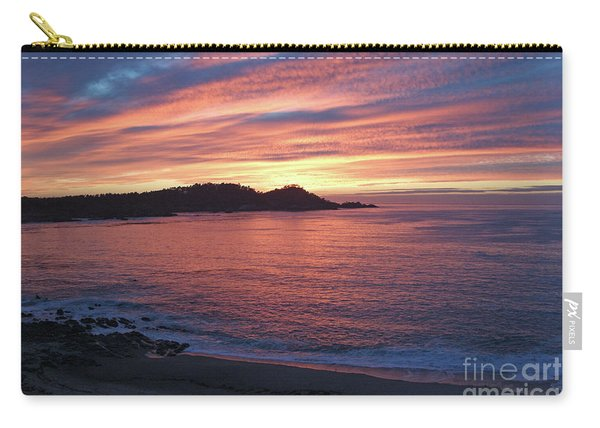 Point Lobos Red Sunset Carry-all Pouch
