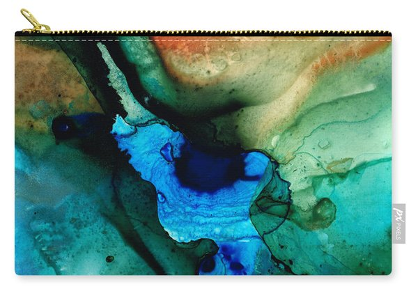 Point Of Power - Abstract Painting By Sharon Cummings Carry-all Pouch