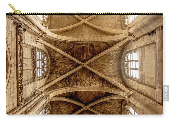 Poissy, France - Ceiling, Notre-dame De Poissy Carry-all Pouch