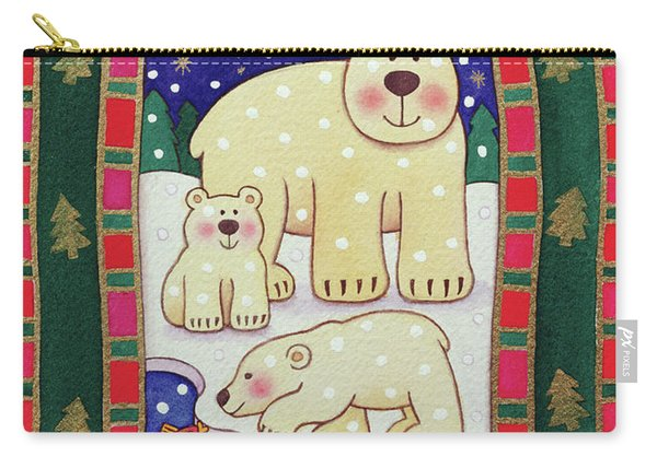 Polar Bear And Cubs Carry-all Pouch