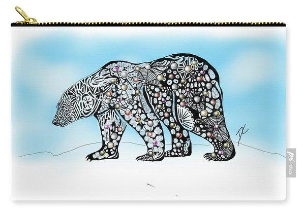 Polar Bear Doodle Carry-all Pouch