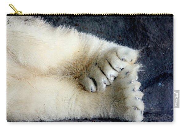 Polar Bear Paws Carry-all Pouch