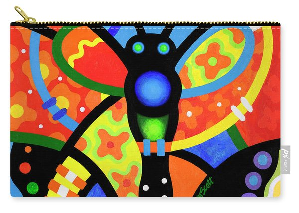 Kaleidoscope Butterfly Carry-all Pouch