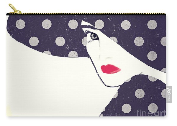Polka Dot Fashion Hat Carry-all Pouch