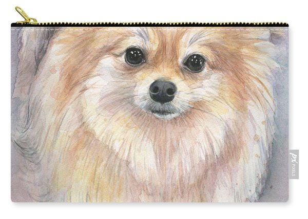 Pomeranian Watercolor Carry-all Pouch
