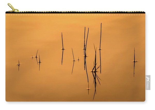Pond Reeds In Reflected Sunrise Carry-all Pouch