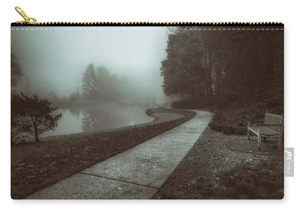 Pond Walk In Black And White Carry-all Pouch