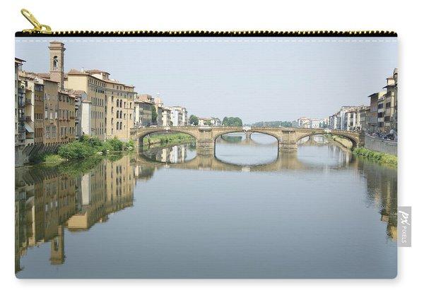 Ponte Santa Trinita On River Arno Carry-all Pouch