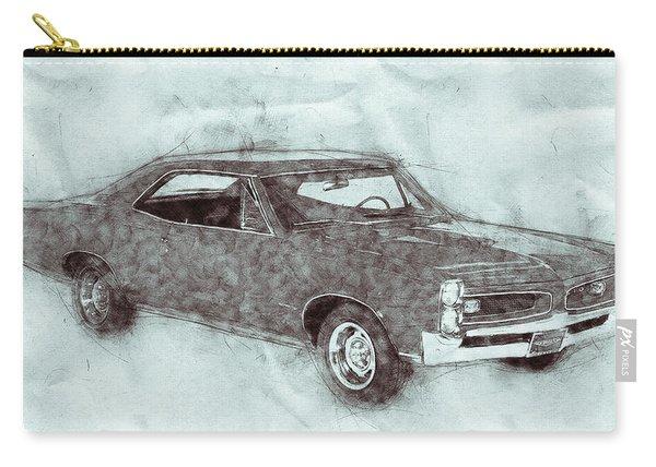 Pontiac Gto 1 - 1967 - Automotive Art - Car Posters Carry-all Pouch