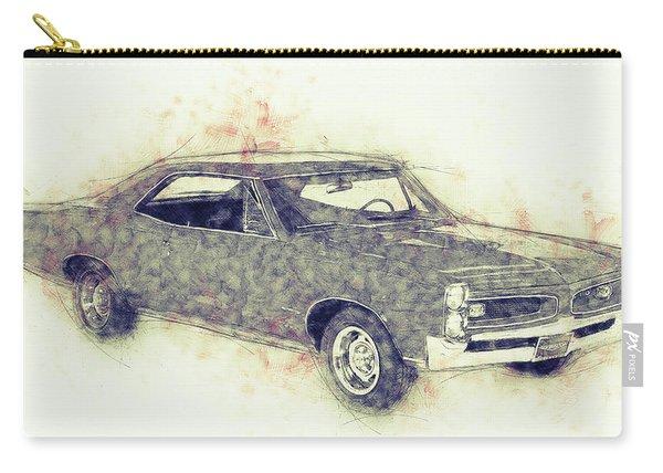 Pontiac Gto - 1967 - Automotive Art - Car Posters Carry-all Pouch