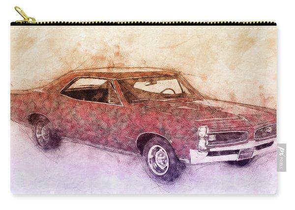 Pontiac Gto 3 - 1967 - Automotive Art - Car Posters Carry-all Pouch