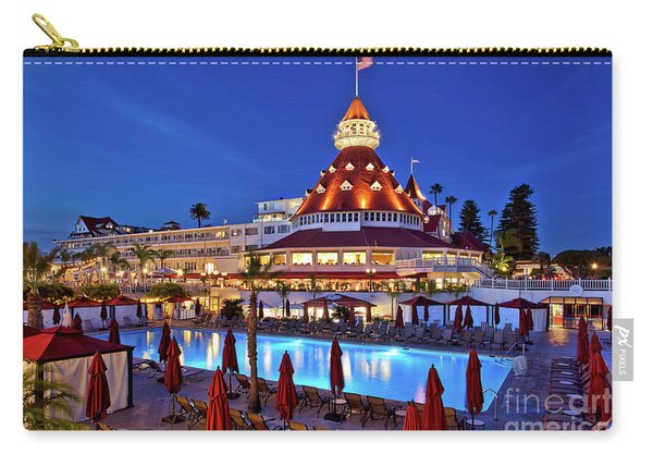 Carry-all Pouch featuring the photograph Poolside At The Hotel Del Coronado  by Sam Antonio Photography