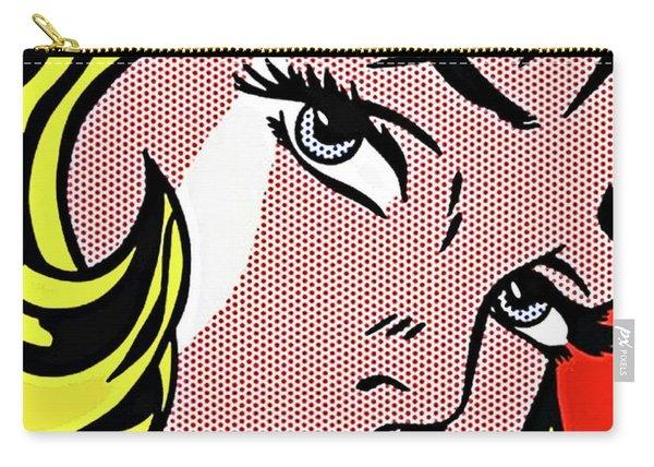 Pop Art Blond Woman, Roy Lichtenstein Carry-all Pouch