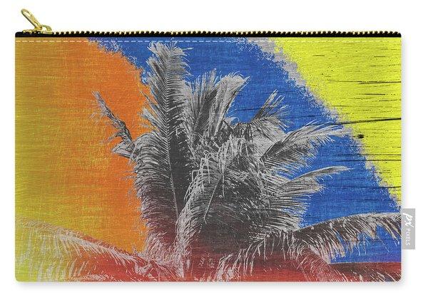 Pop Art Coconut Tree Retro Tropical Vintage Palm  Carry-all Pouch