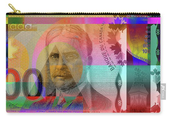 Pop-art Colorized New One Hundred Canadian Dollar Bill Carry-all Pouch