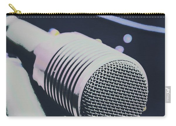 Pop Art Performance In Disco Blues Carry-all Pouch